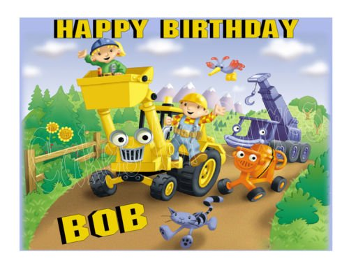 Bob the Builder edible party cake topper cake image - Bob The Builder Cake Decorations