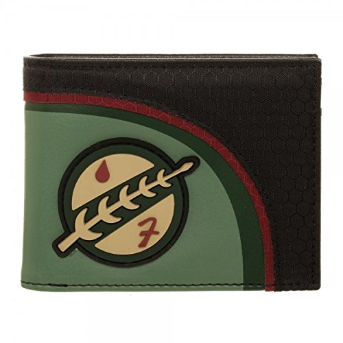 Star Wars Boba Fett Rubber Logo Mandalorian Bi-Fold Wallet