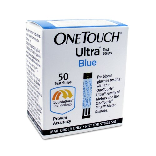 Un Ultra Touch Strip Bleu messages test Ordre, 50 CT