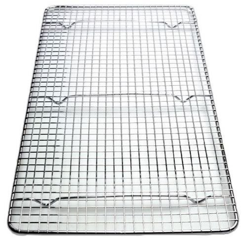 Grid Chrome Plated (Great Credentials Cooling Rack Cross-wire Grid, Chrome Plated Steel, Commercial Quality, 10 x 18 inch. fits inside most standard full size pans)