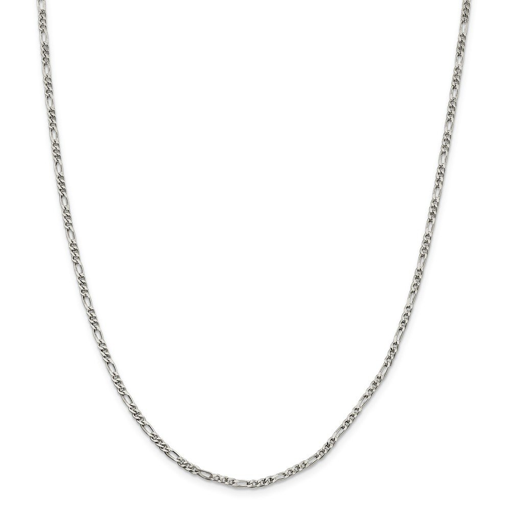 Jewelry Chain Anklets Sterling Silver 2.5mm Figaro Chain
