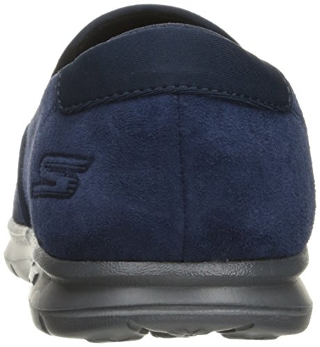 Skechers Performance Go de la mujer paso Untouched Walking zapatos Navy/Gray Suede