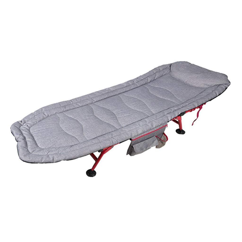 Yyqtzdc Lit Pliant de Camping for Le Camping  Fauteuil de Repos, Chaise Longue Ajustable for Le Dos, Charge jusqu'à 120kg, 185x62x33cm Bureau ou extérieur  -
