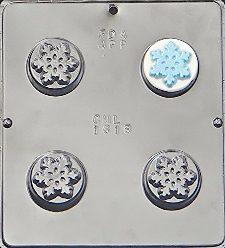 Snowflake Oreo Cookie Chocolate Candy Plastic Mold 1618