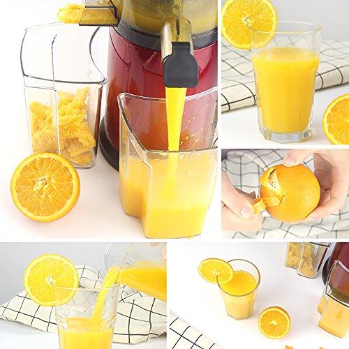 DULPLAY Quiet Slow Speed Masticating juicer,Healthy Fruit and Vegetable 180-watt,Bpa Free Metallic Juicer Machine -red 45x15x17cm(18x6x7inch) by DULPLAY (Image #1)
