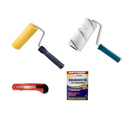 1A Malerwerkzeuge - Juego para empapelar (4 piezas, pegamento para 20 m²,