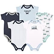 Luvable Friends Cotton Bodysuit, 5 Pack
