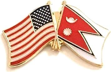 Wholesale Pack of 24 USA American Taiwan Friendship Flag Hat Cap lapel Pin