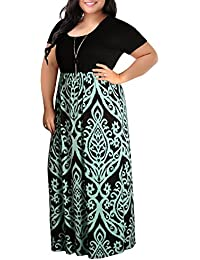 Women's Chevron Print Summer Short Sleeve Plus Size...