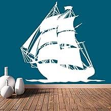 Wall Decal Vinyl Sticker Decals Art Decor Design Ship Pirates Waves Guns Sail Boat Kids Anchor Children Funny Nursery Beedroom Gift (r687)