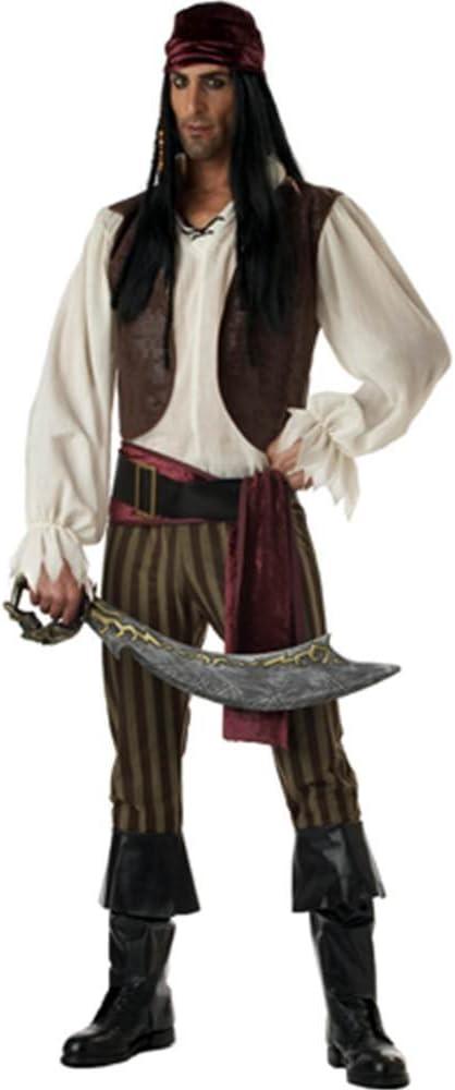 Mens - Disfraz de pirata del caribe para hombre, talla M (00827 ...