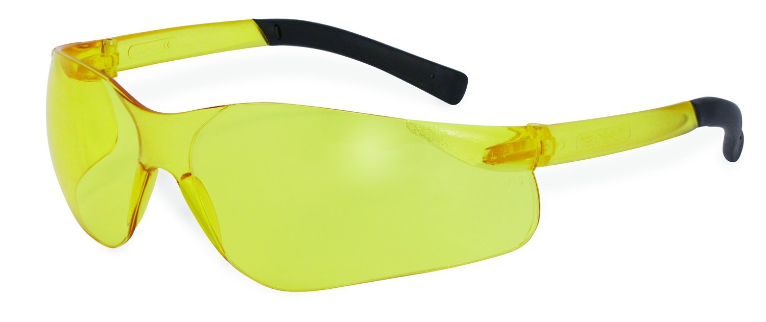 SSP Eyewear Safety Glasses with Amber Lenses/Frosted Yellow Temples, 12 Pack, TURBO AM DZ by SSP Eyewear
