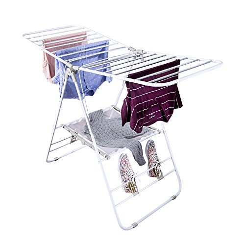 - Honey-Can-Do Heavy Duty Gullwing Drying Rack, White Metal