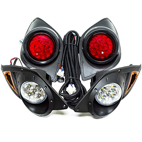 Yamaha G29 YDR Drive Golf Cart 2007 Up Full LED Light Kit Head & Tail Lights