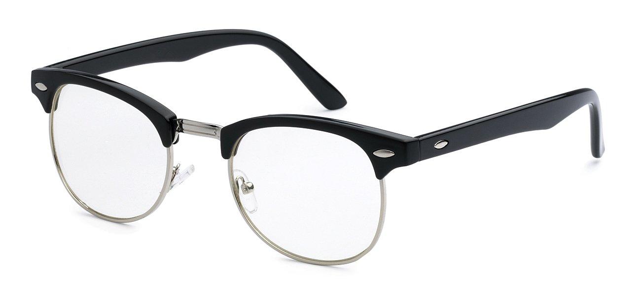 Best New Half Frame Geek Nerd Fake Reading Vintage Glasses for Men ...