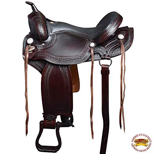 "HILASON 17"" Western GAITED Flex Trail Pleasure Endurance Horse Saddle Brown"
