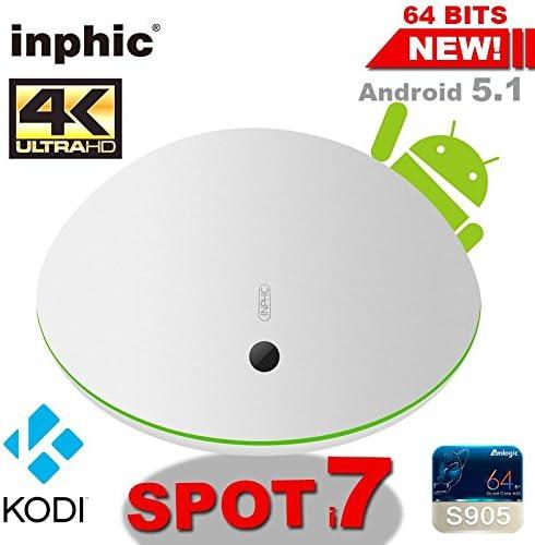 ARBUYSHOP Inphic punto i7 Android TV Box Amlogic S905 con vidon XBMC KODI Android 5.1 8GB eMMC WiFi Miracast HDMI Gigabit LAN Ready Yomvi: Amazon.es: Electrónica