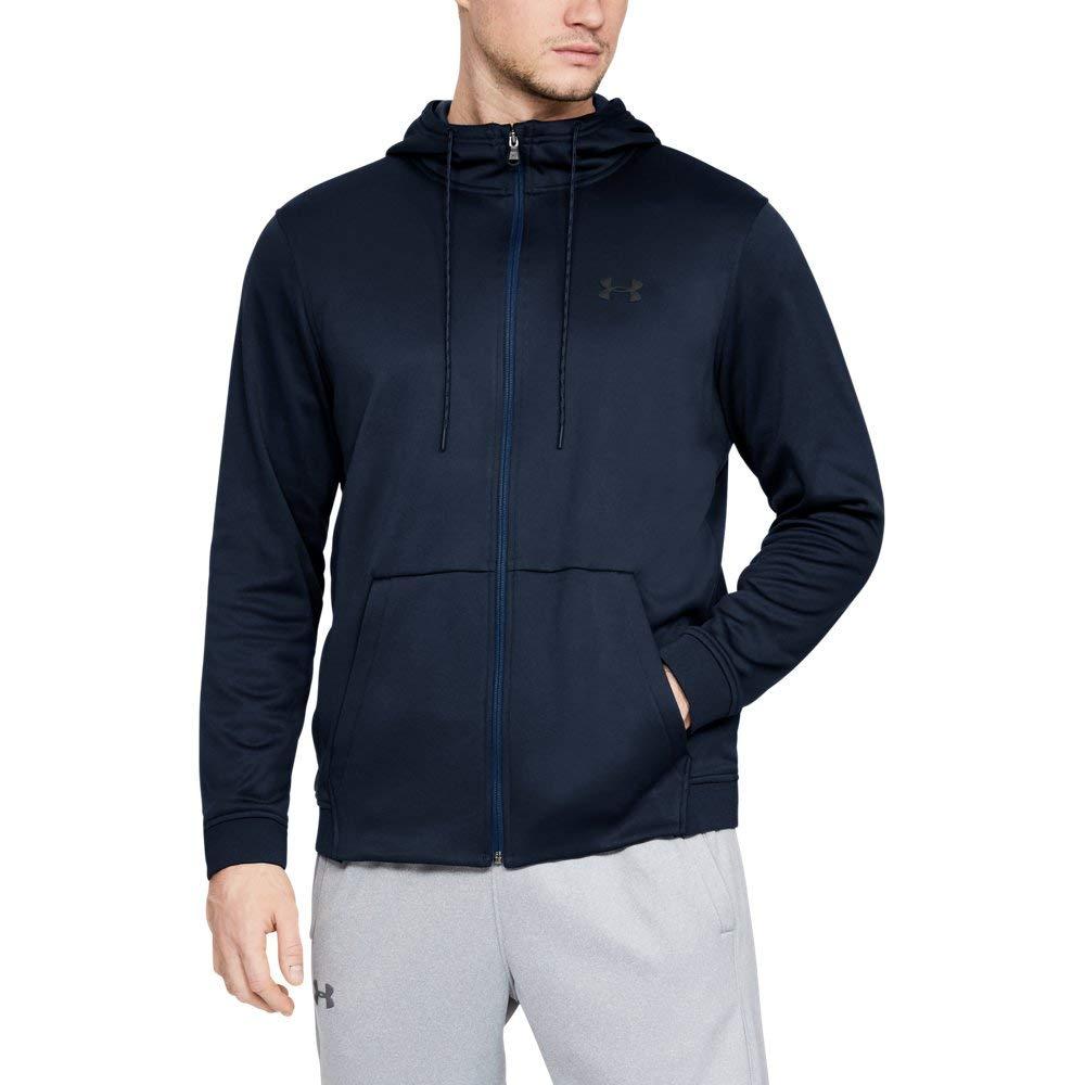 Under Armour Men's Armour Fleece Full Zip Hoodie, Academy (408)/Black, X-Large