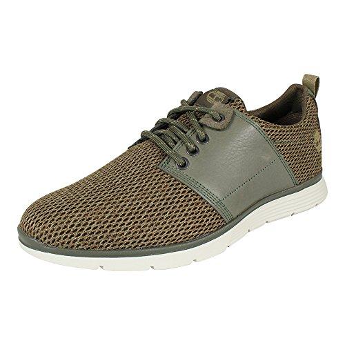 pelle Leather In a1nl3 Oxford Timberland Fabric Killington Grigio Sneaker Uomo Tessuto a5TUq81x