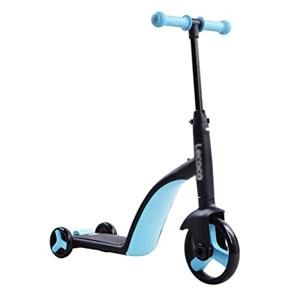 Patinetes clásicos Scooter Convertible 3 en 1 para niños pequeños, Scooter de Patada Ajustable para Manillar ...