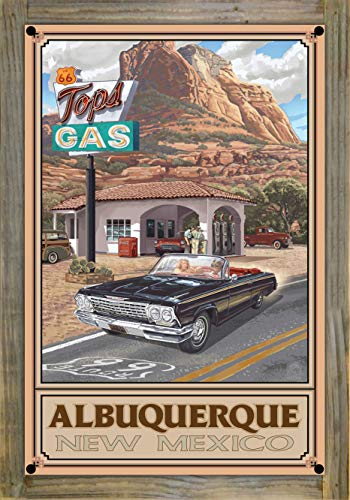 Northwest Art Mall Albuquerque New Mexico Metal Print on Reclaimed Barn Wood by Paul A. Lanquist (12