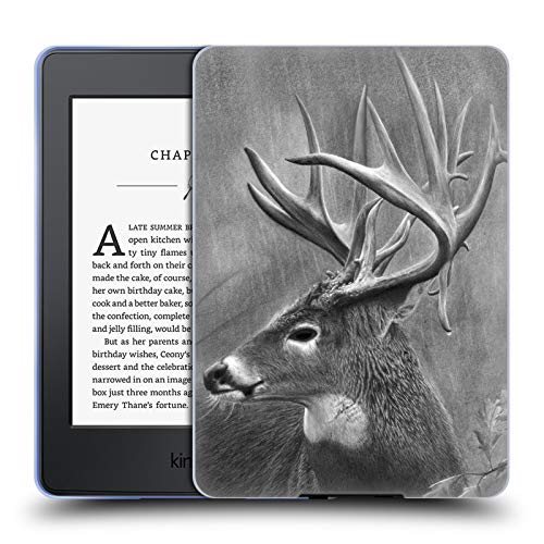 Official Chuck Black Rainy Days Deer Family Soft Gel Case for Amazon Kindle Paperwhite 3