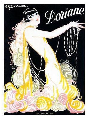 Doriane, Cabaret Affiche: artiste Charles Gesmar, 1920s (30 x 40 cm imprimé)
