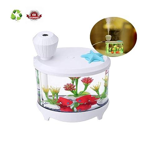 Humidificador Aromaterapia Ultrasónico purificador de Aire Difusor de Aromaterapia, Atmósfera Luces de Colores Luz de