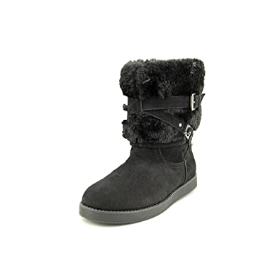 G by Guess Alta Women\u0027s Shearling Winter Boots, Black, Size 6.0