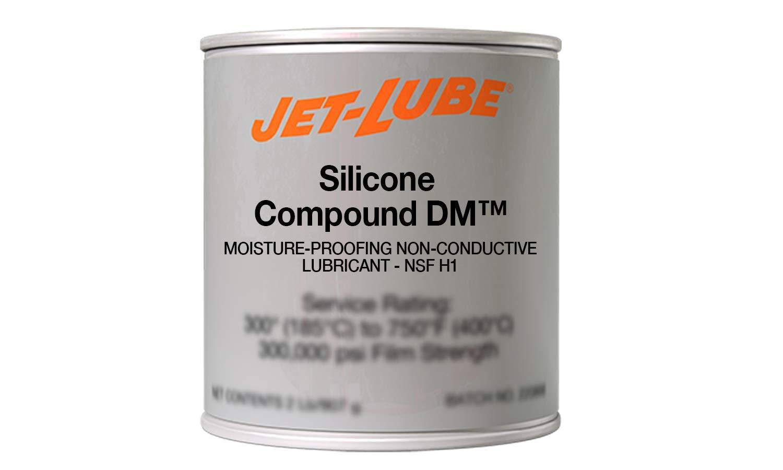 Jet-Lube Silicone Compound DM - Military Grade | Moisture Proofing | NLGI #3 | Food Grade Lubricant | 1 Lb.