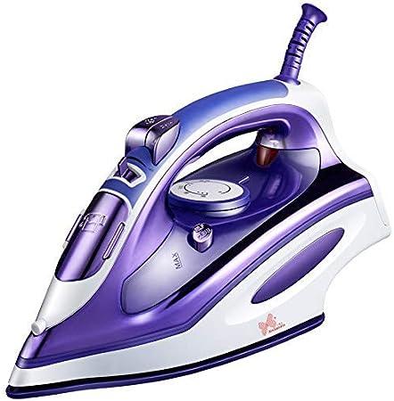 Pequeñas planchas de vapor portátiles de mano Ligero compacto Vaporizador de viaje Vaporizadores de ropa 1200W 360Ml Vaporizador de ropa para el hogar y el viaje Eliminar las arrugas rebeldes, púrpura