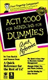 ACT! 2000 for Windows, Tom E. Barich and Damon Dean, 0764505629