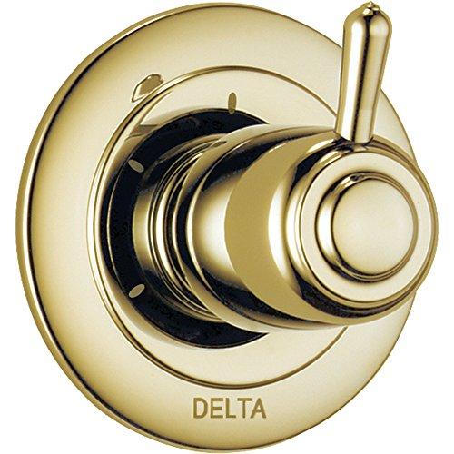 Delta 3-Setting Polished Brass Single Handle Shower Diverter with Valve D176V by DELTA FAUCET