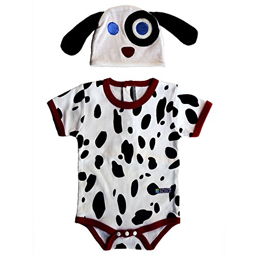 Embroidery Dalmatian (Sozo Baby Dalmatian Bodysuit and Hat Set, Multi, 12 Months)