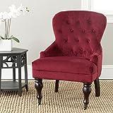 Safavieh Mercer Collection Falcon Arm Chair, Red Velvet For Sale