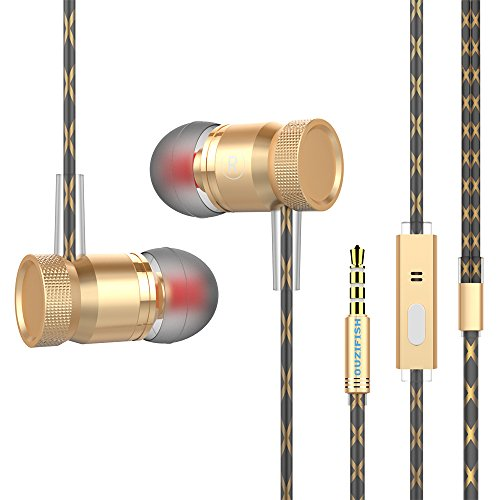 OUZIFISH Premium Metal Earbuds, in-Ear Headphones, Stereo Bass Noise-isolating Earphones Mic (Color-2) by OUZIFISH