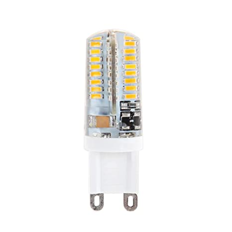 Bombillas halógenas de cristal LED, 10 bombillas G9 LED de 5 W 3014 64SMD,