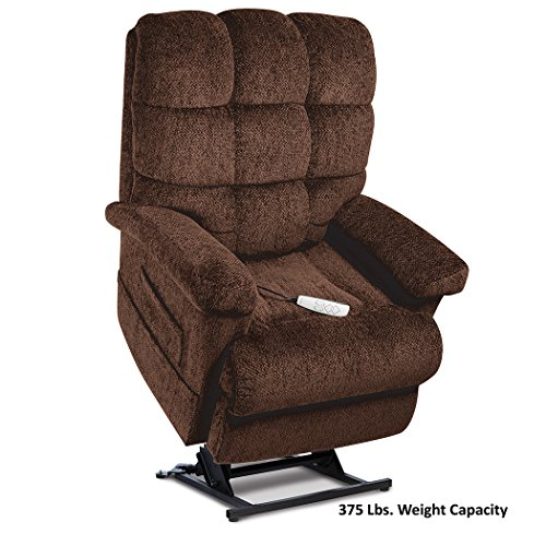 Pride LC-580iM (Medium) Oasis Collection Infinite-Position Lift Chair with Inside Delivery and Setup Option (Saratoga Godiva, Curbside Delivery)