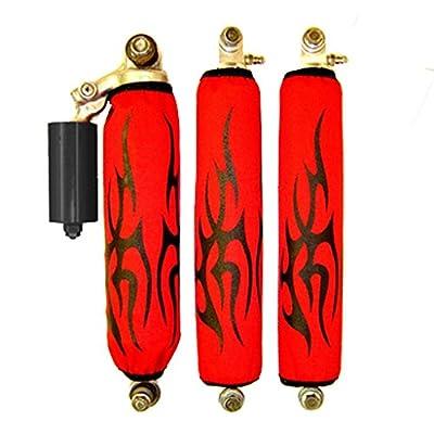 Suzuki ltz 400 Black Tribal Red Shock Cover