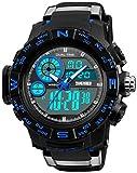 Men's Military Analog Digital Wrist Watches Multi-function 50M Waterproof Alarm Stopwatch Dual Time Watch