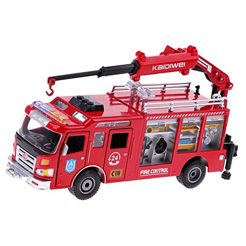 Fityle 1:50スケール 消防車モデル トラック模型 子供 建設おもちゃ アクセサリー