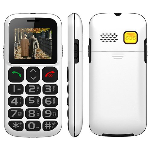Seawolf Wireless Unlocked Senior Cell Phone with SOS button (1 month mobile service included)