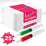Jello Shot Syringes With Covers, Large 2.5 oz, 25 Per Box Great for Parties By Care Touch