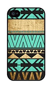 Aztec Wood Turquoise PatteApple Sumsung Galaxy S4 I9500 CaSumsung Galaxy S4 I9500s CaHard Plastic Case