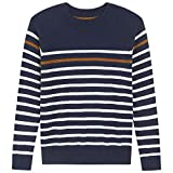 Tops Sweater for Kids Baby Boy Toddler Adorable Crew Neck Cute Jacquard Knit (Blue, 6T)