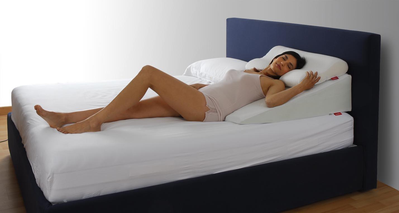 SONNO+ Anti-Reflux Keilkissen, Matratzenkeil, Matratzenkeil, Matratzenkeil, Matratzenerhöhung für Erwachsene aus Polyurethanschaum mit hohem Gewicht und Memory Foam (H18  70 x 84 x 18-2 cm) 849d13