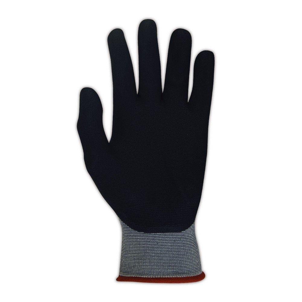 PIP 34-875/M Maxi Flex Ultimate 34875 3/4 Foam Nitrile Palm Coated Gloves, 10, Black, Medium (Pack of 12)