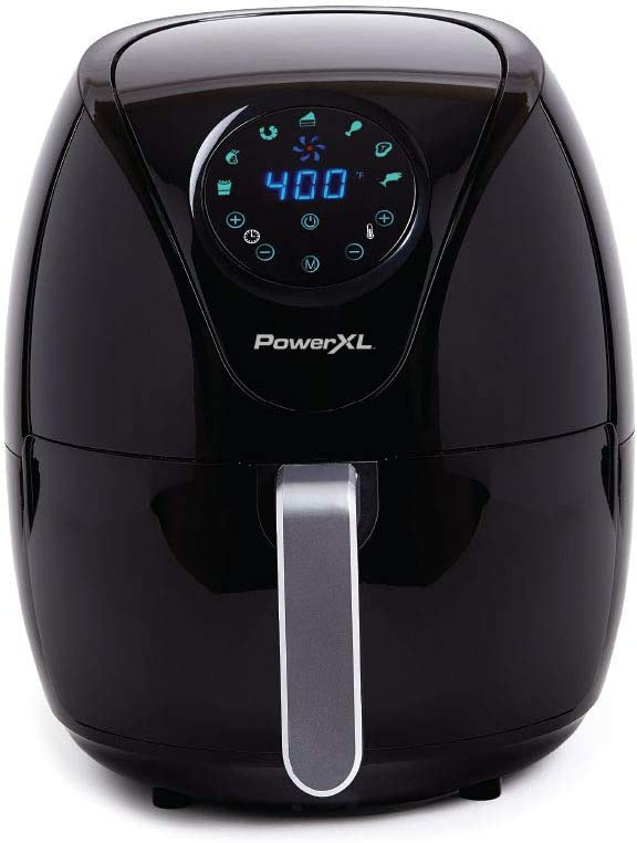 PowerXL Air Fryer 7 QT Maxx, Special Edition 2021, Extra Hot Air Fry, Cook, Crisp, Broil, Roast, Bake,, High Gloss Finish, Black (7 Quart)