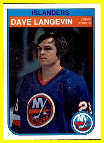 1982-83 O-Pee-Chee #204 Dave Langevin NEW YORK ISLANDERS by thecardattic