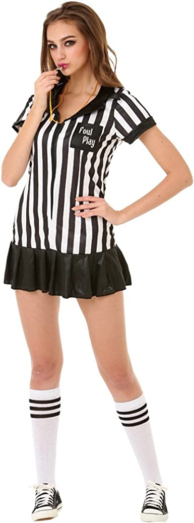 Referee Fitted Shirt Adult Womens Halloween Costume